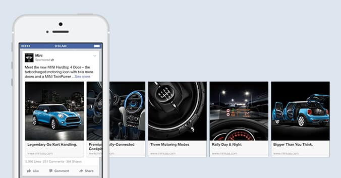 facebook, реклама, карусель