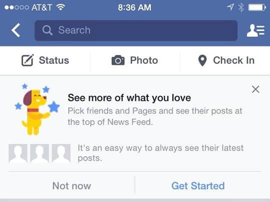 facebook, лента