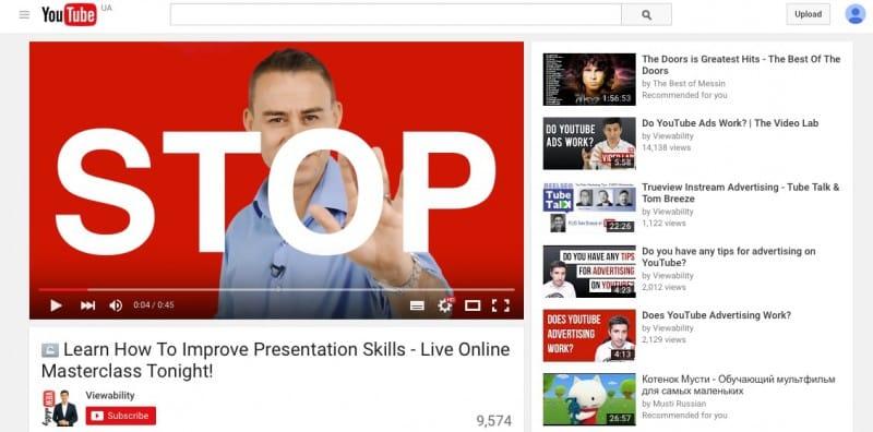 реклама, видеореклам, YouTube