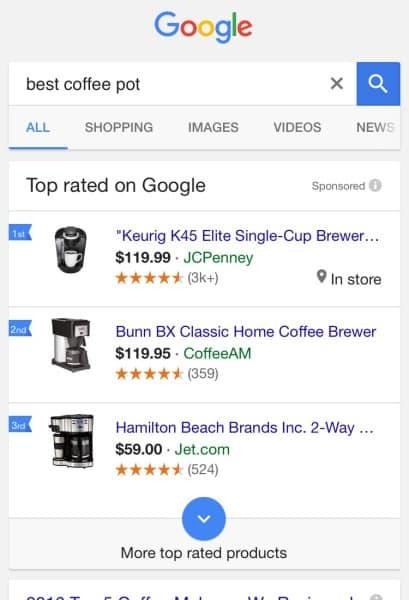 поиск, выдача, товарная выдача, google