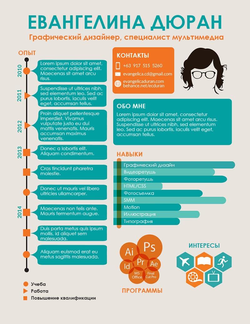 Резюме, инфографика, работа, кадры, HR, труд, профориентация