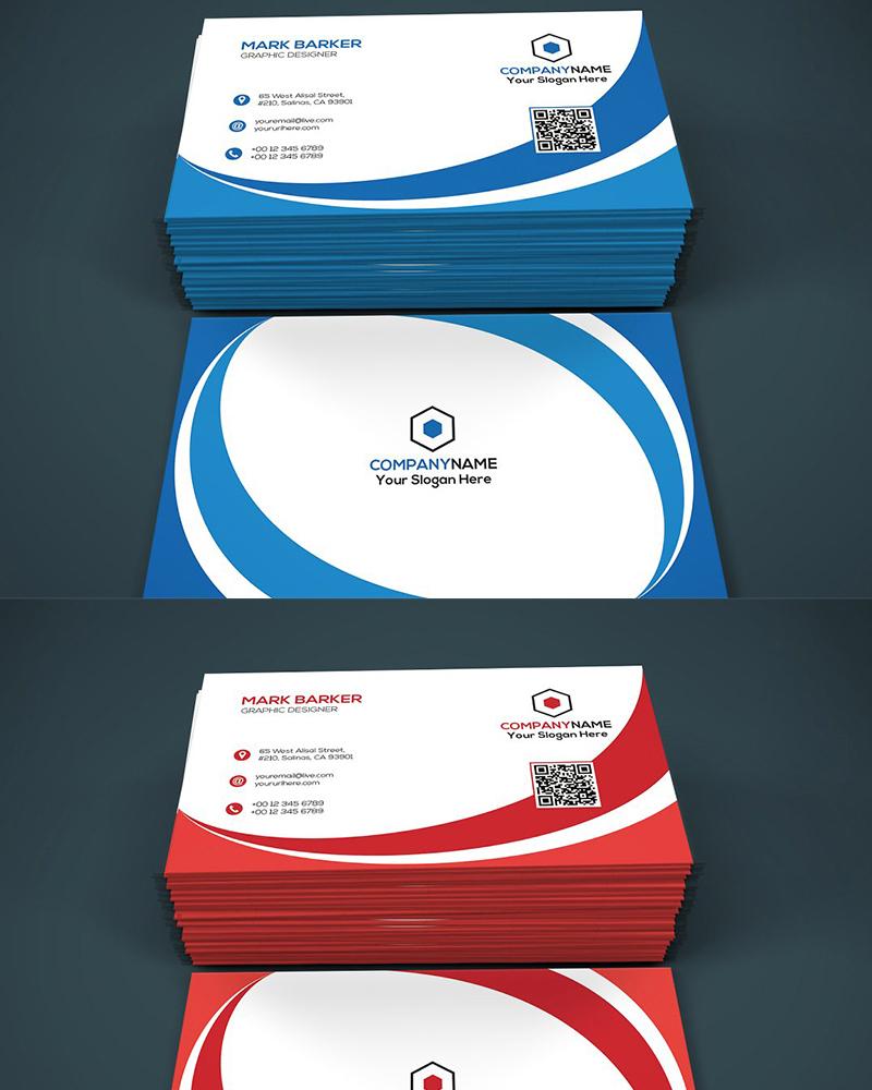 Дизайн визитки Curvy Elegant Business Card