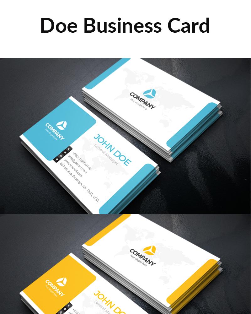 Дизайн визитки Doe Business Card