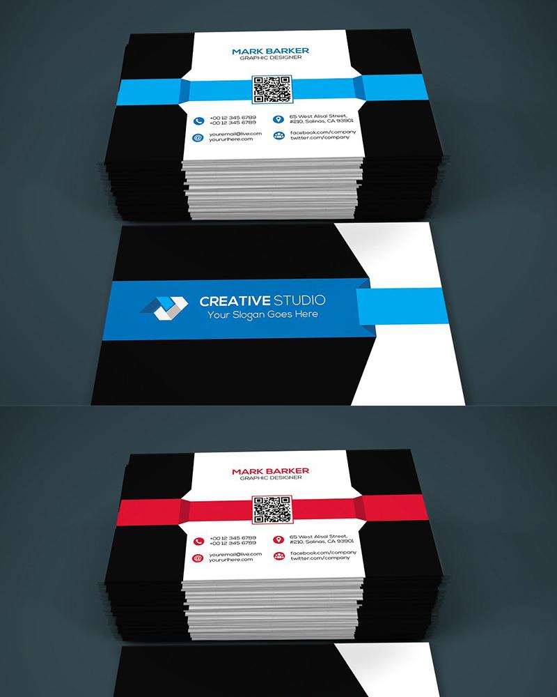 Дизайн визитки Modern Stripe Business Card