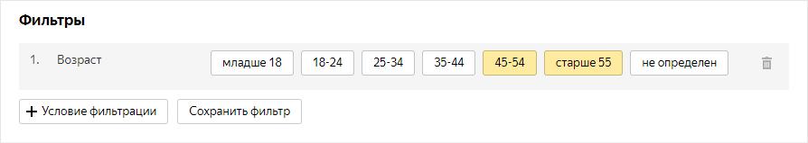 Новые возрастные категории Яндекс