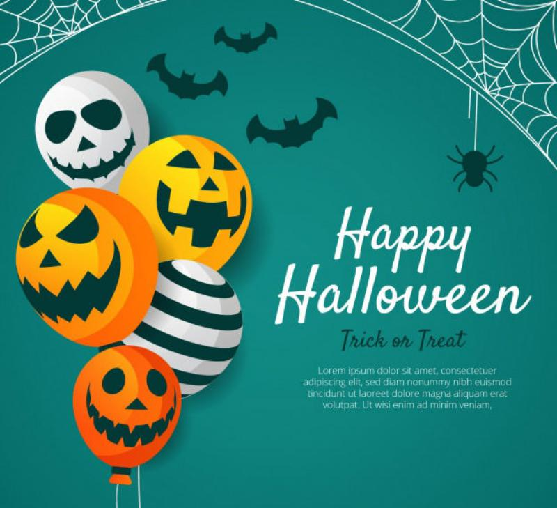1 lovely-halloween-background-with-flat-design