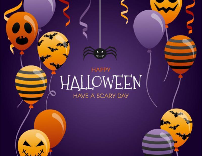 4 lovely-halloween-balloon-background