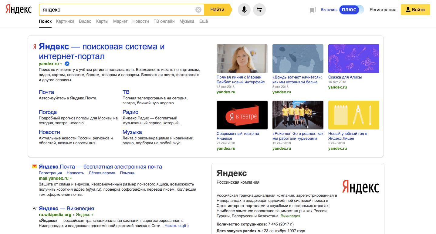 Расширенные сниппеты Яндекса