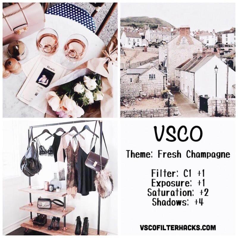 10 Fresh Champagne Instagram Feed - VSCO Filter C1