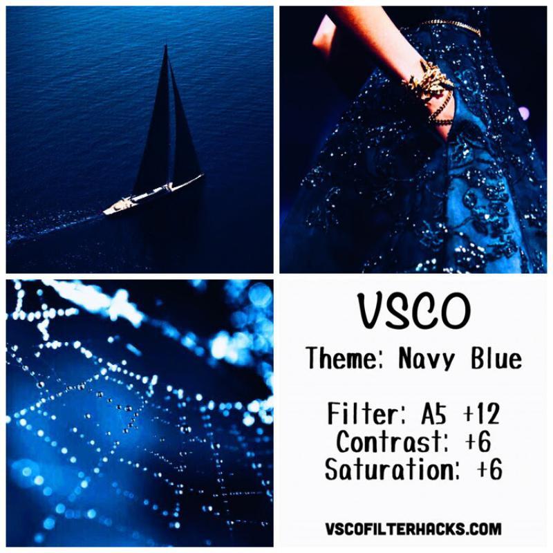 12 Navy Blue Instagram Feed - VSCO Filter A5