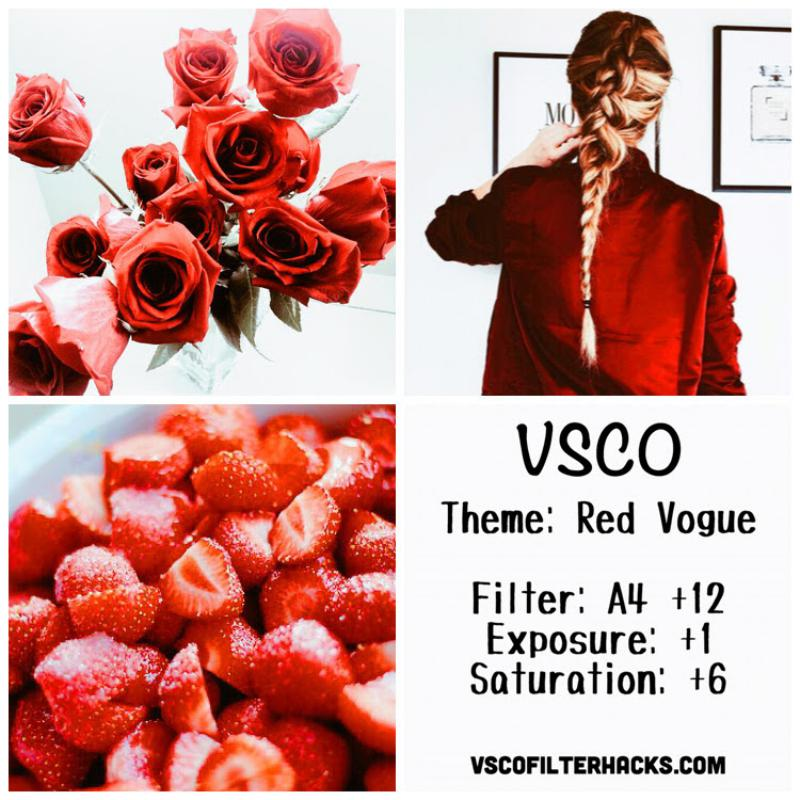 13 Red Vogue Instagram Feed - VSCO Filter A4