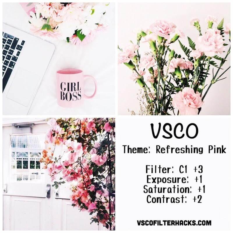 14 Refreshing Pink Instagram Feed - VSCO Filter C1