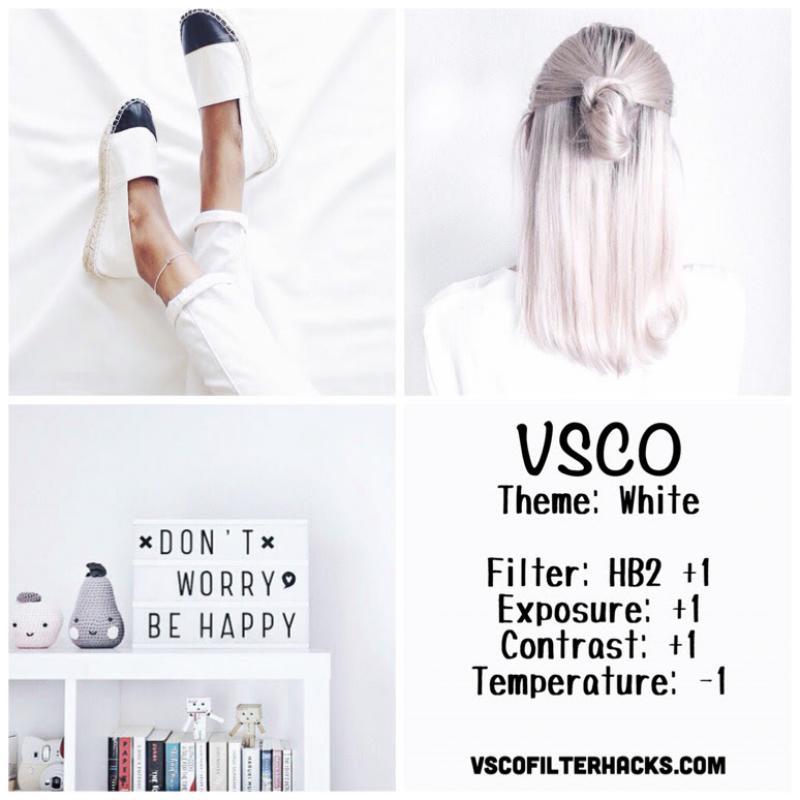 15 White Instagram Feed - VSCO Filter HB2