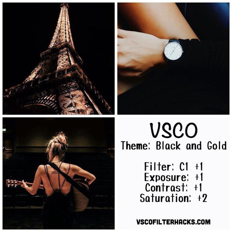 2 Black and Gold Instagram Feed - VSCO Filter C1
