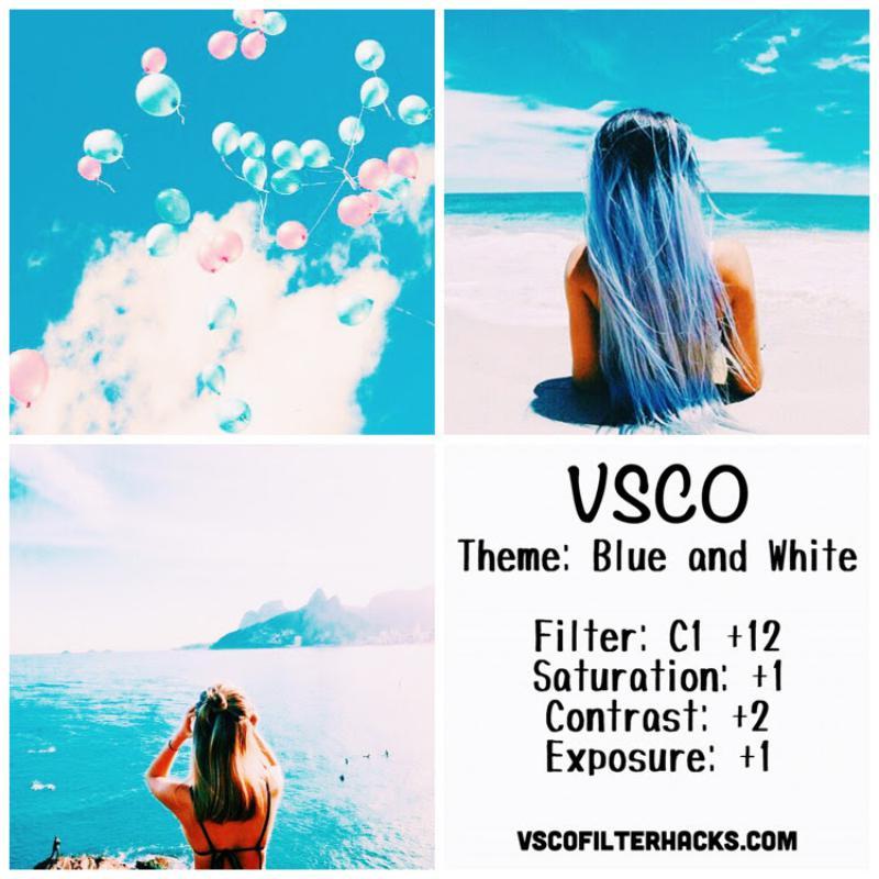 4 Blue and White Instagram Feed - VSCO Filter C1