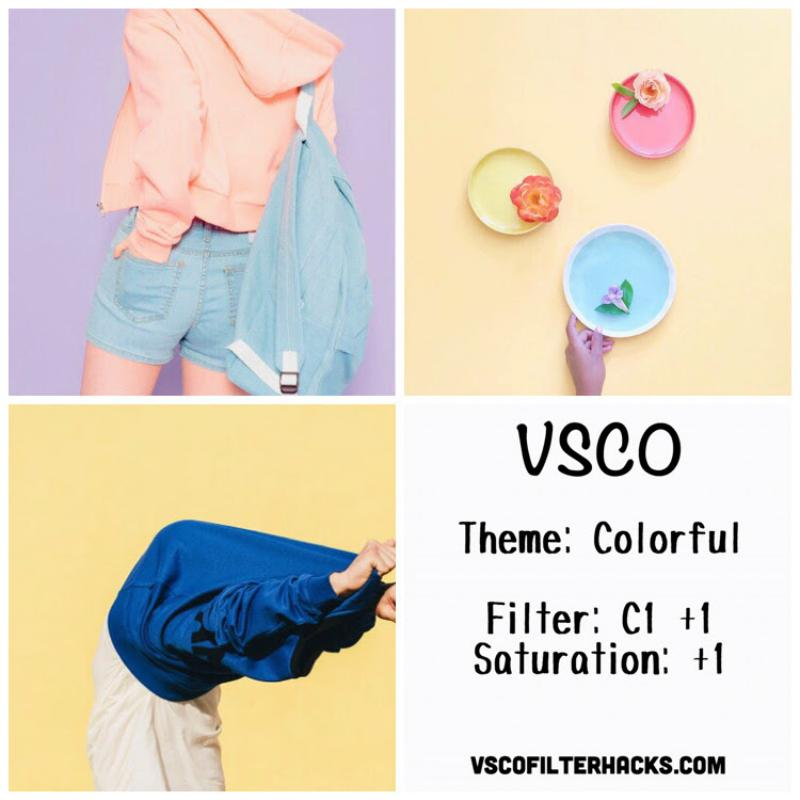 6 Colorful Instagram Feed - VSCO Filter C1