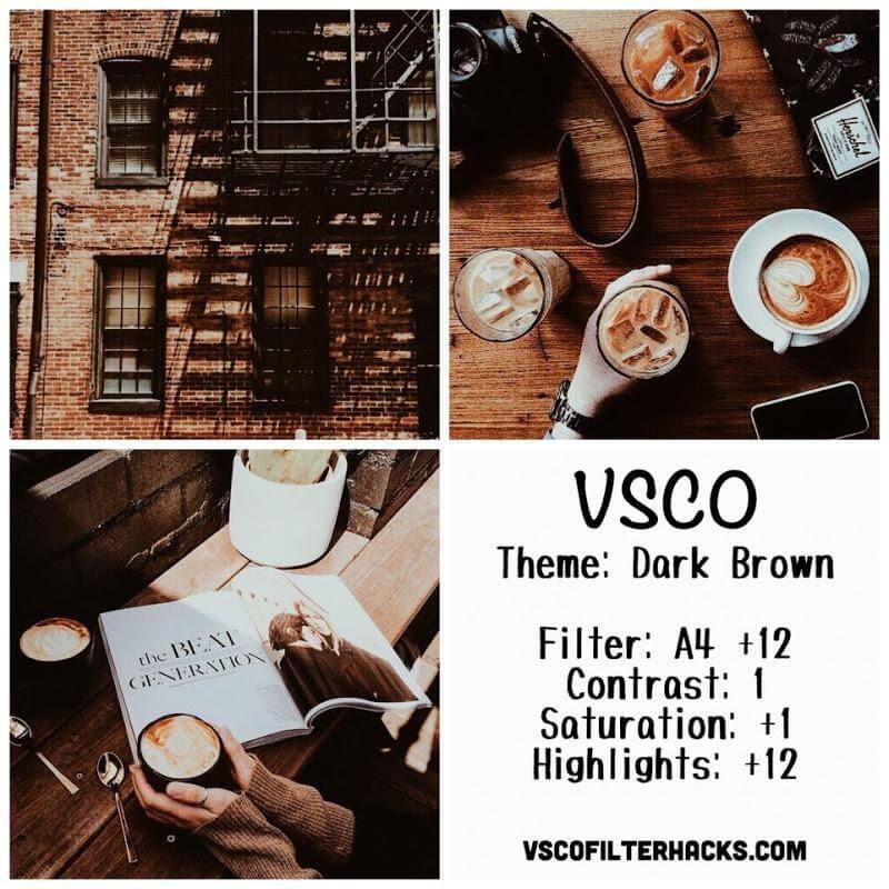 7 Dark Brown Instagram Feed - VSCO Filter A4