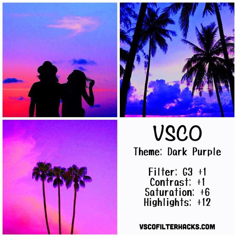 9 Dark Purple Instagram Feed - VSCO Filter G3