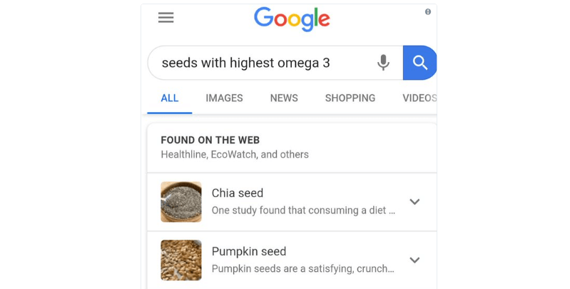 Объединённые сниппеты Google