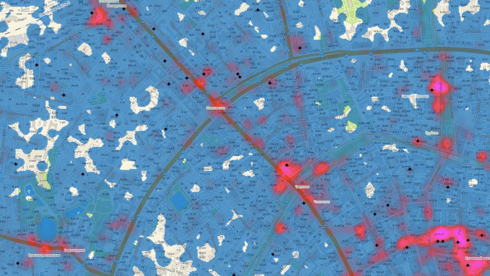 Тепловая карта от 2ГИС