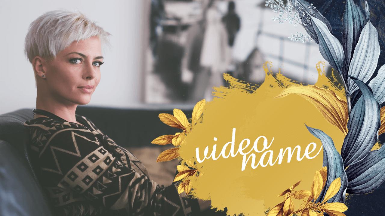 Бесплатный шаблон обложки для видео на YouTube фон Золото