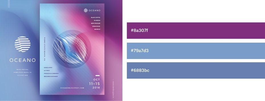 Красивые сочетания цветов для графического дизайна, фото 13