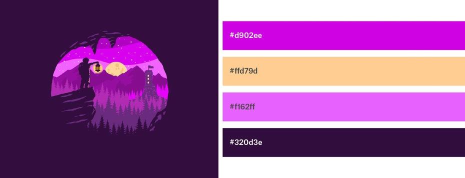Красивые сочетания цветов для графического дизайна, фото 28