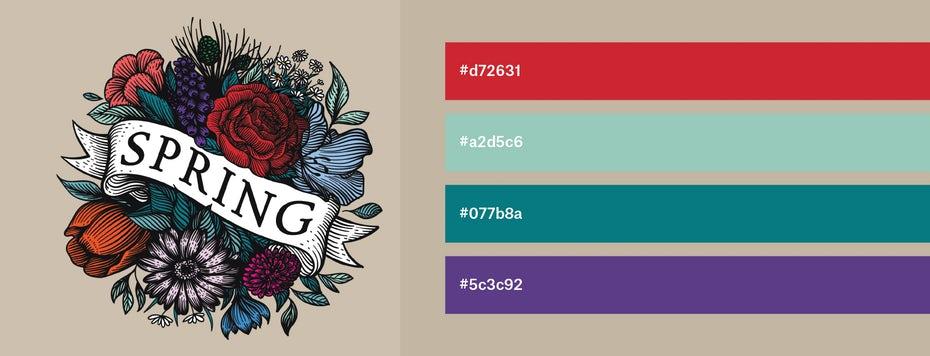Красивые сочетания цветов для графического дизайна, фото 4